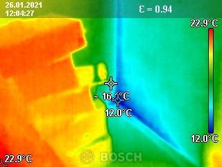 Thermographie bezueglich Schimmelpilzbildung in Aldersbach 01.2021